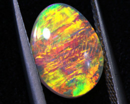 1.35 CTS (DOUBLET SIDED) LIGHTNING RIDGE GEM CRYSTAL OPAL  INV-603