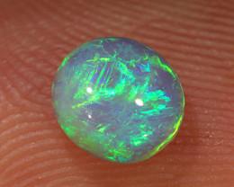 0.65ct 5.5x5mm Solid Lightning Ridge Dark Opal [LO-1819]