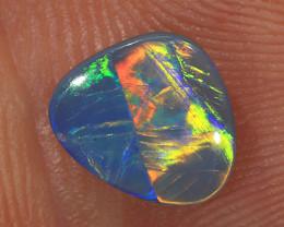 0.8ct 8x7mm Solid Lightning Ridge Dark Opal [LO-1849]