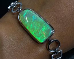 Top Gem Crystal fire OpaL Set in sterling silver bracelet OPJ 2556