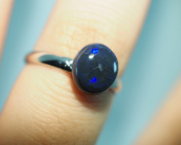 7.60CT  SILVER ADJUSTABLE BOULDER OPAL RING ST86