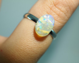 7.70CT  SILVER ADJUSTABLE BOULDER OPAL RING ST89