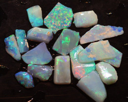 17.33  CTS L.RIDGE OPAL INLAY ROUGH PARCEL DT-9400