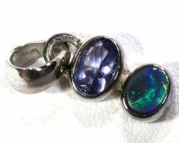 6.5  CTS BLACK  OPAL  SILVER PENDANT  OF-126