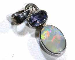 9 CTS BLACK  OPAL  SILVER PENDANT  OF-129