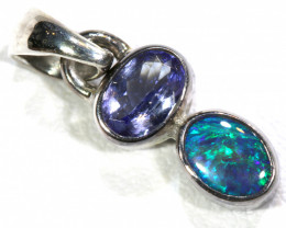 9  CTS  BLACK  OPAL  SILVER PENDANT OF-130