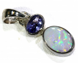 8.5 CTS BLACK OPAL  SILVER PENDANT   OF-134