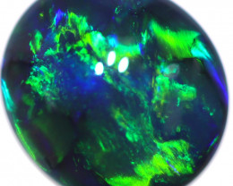 0.71 CTS DOUBLE SIDES BLACK OPAL STONE-FROM  OLD COLLECTION- [LRO913]