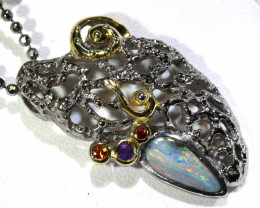 73.65 CTS   BOULDER OPAL SILVER PENDANT  OF-158
