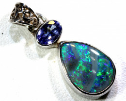 11.5   CTS  BLACK OPAL  SILVER PENDANT  OF-173