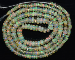 20.25 Ct Natural Ethiopian Welo Opal Beads Play Of Color