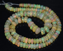 64.60 Ct Natural Ethiopian Welo Opal Beads Play Of Color OB768