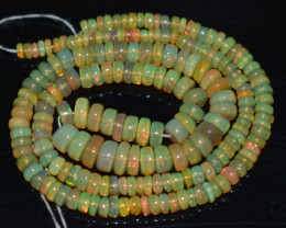 52.05 Ct Natural Ethiopian Welo Opal Beads Play Of Color OB773