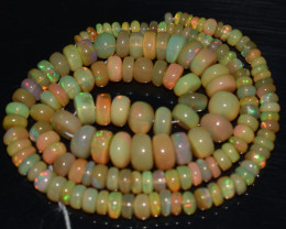 78.60 Ct Natural Ethiopian Welo Opal Beads Play Of Color OB780