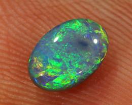 0.5ct 6.5x4.5mm Solid Lightning Ridge Dark Opal [LO-1857]
