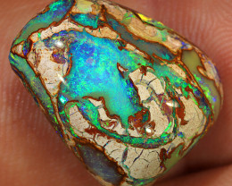 11.5ct 18x14mm Crystal Pipe Boulder Opal  [LOB-2996]