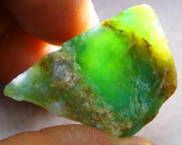 Rough 44.50Ct Natural Peruvian Paraiba Color Opal F1921