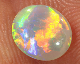 0.7ct 7.5x6.5mm Solid Lightning Ridge Crystal Opal [LO-1879]