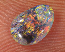 0.25ct 6.5x4.5mm Solid Lightning Ridge Dark Crystal Opal [LO-1882]
