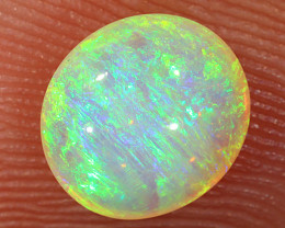 0.8ct 7x6.5mm Solid Lightning Ridge Crystal Opal [LO-1886]