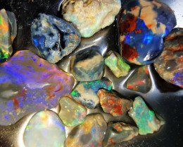 Rough Opal Lot 120.50 cts 16 pcs Black Opals Lightning Ridge BORB181119