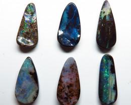 25.10ct Queensland Boulder Opal 6 Stone Parcel