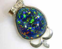 17.60 CTS TRIPLET OPAL PENDANT SILVER  OF-678