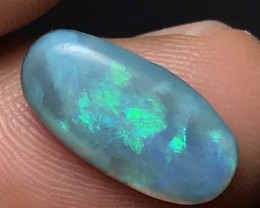 Rare gemmy black opal from mintabie