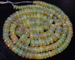 46.25 Ct Natural Ethiopian Welo Opal Beads Play Of Color