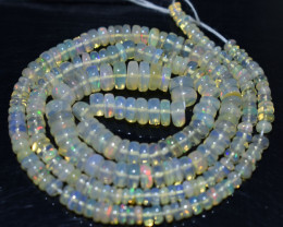 46.50 Ct Natural Ethiopian Welo Opal Beads Play Of Color