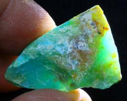 Rough 28.70Ct Natural Peruvian Paraiba Color Opal G2404