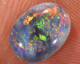 1.15ct 9.5x7mm Solid Lightning Ridge Dark Opal [LO-1892]