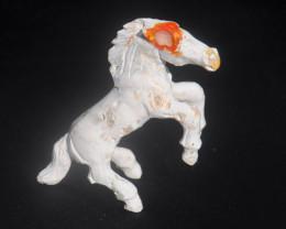Unique  Horse Mexican Matrix Fire Opal Figurine