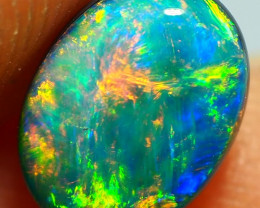 1.00CT GEM QUALITY BLACK OPAL DOUBLET  SS01317
