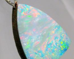 Australian Opal Pendant Doublet in Sterling Silver 6.8ct