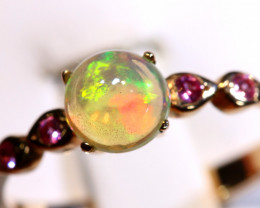 7.68 CTS -ETHIOPIAN OPAL RING / COPPER OF-2653-opalsforever