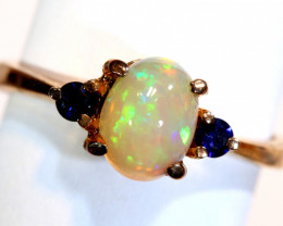 13.15 CTS -ETHIOPIAN OPAL RING / COPPER OF-2656