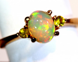 14.45CTS -ETHIOPIAN OPAL RING / COPPER OF-2658