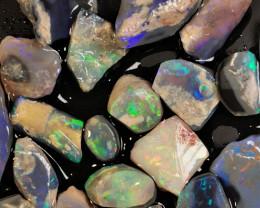 Rough Opal Lot 86.70 cts 20 pcs Black Opals Lightning Ridge BORA281119