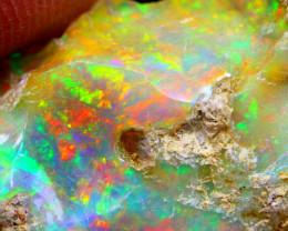 28.06Ct Multi Color Play Ethiopian Welo Opal Rough G0110