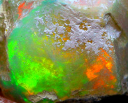 15.73Ct Multi Color Play Ethiopian Welo Opal Rough G0115