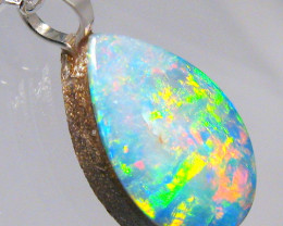 Australian Opal Pendant Solid Sterling Silver 3.55ct