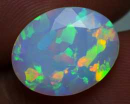 2.55 CRT BEAUTY FACETED ABSTRAK PAINTING PATTERN WELO OPAL-