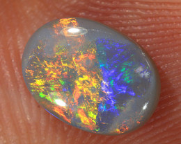 0.85ct 8x6mm Solid Lightning Ridge Dark Opal [LO-1907]