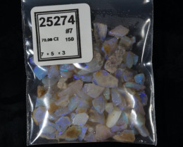 70ct #7 Purple Opal  Chips/Small cutters from CP  [25274]