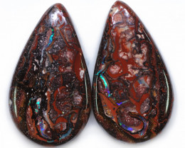 76.82 CTS WELL POLISHED PAIR BOULDER STONES [BMA9120]