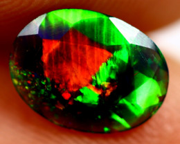 0.68cts Ethiopian Smoked Black Faceted Opal / BF441