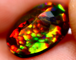 1.60cts Ethiopian Smoked Black Faceted Opal / BF445
