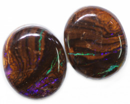27.15 CTS WELL POLISHED PAIR BOULDER STONES [BMA9141]