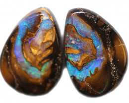 21.13 CTS WELL POLISHED PAIR BOULDER STONES [BMA9148]